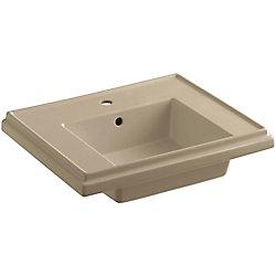 KOHLER Tresham Bathroom Sink Basin with Single Hole Faucet Installation in Mexican Sand
