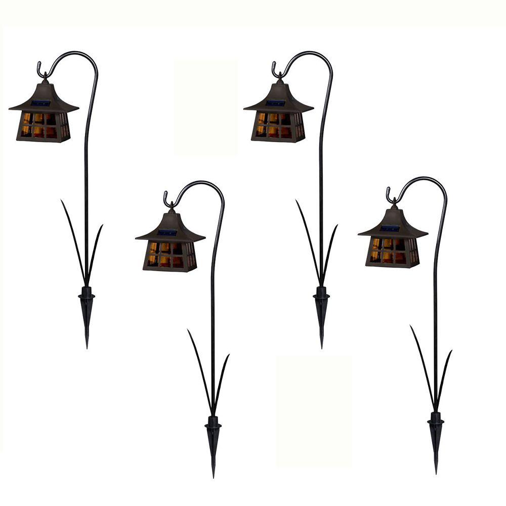 Ensemble de 4 lanternes solaires à DEL
