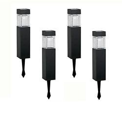 Hampton Bay Solar LED Square Walk Light Set (4-Pack)