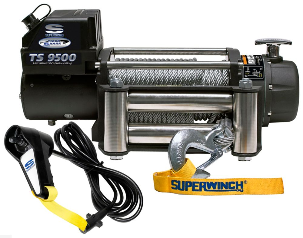 Tiger Shark 9500 Vehicle Recovery Off-Road Winch - 9500 Lbs/12V