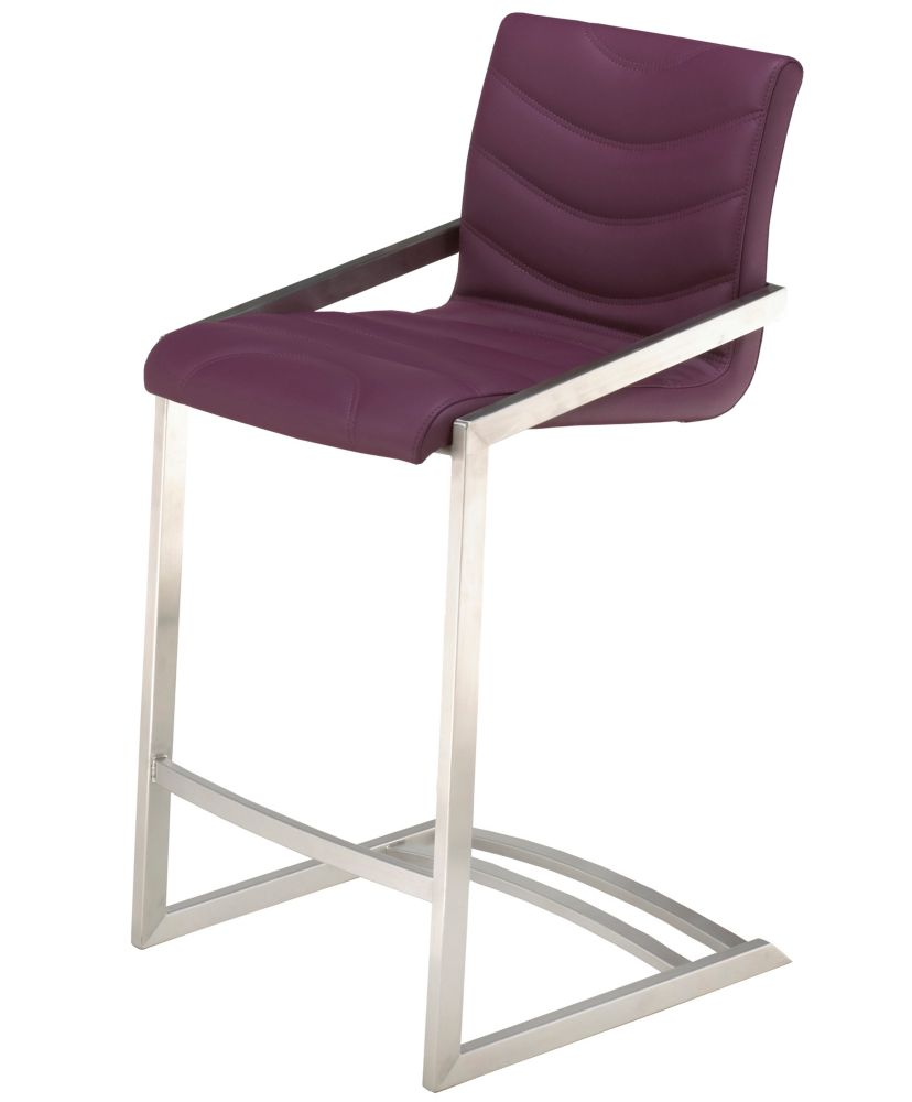 Incredible Contour Stainless Counter Stool Purple Set Of 2 Andrewgaddart Wooden Chair Designs For Living Room Andrewgaddartcom