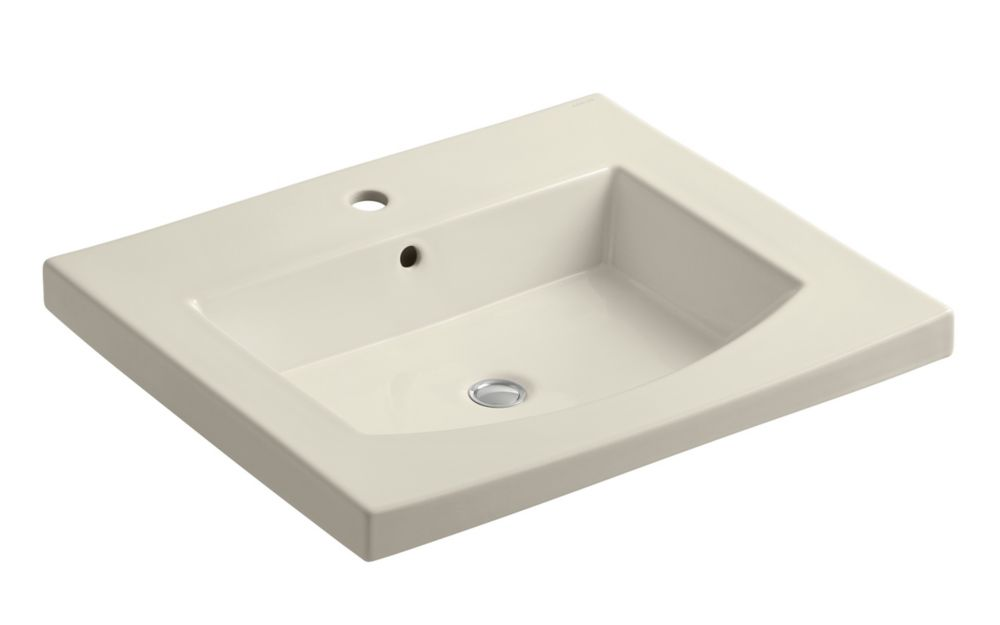 Persuade Curved Top and Bathroom Sink Basin with Single Hole Installation