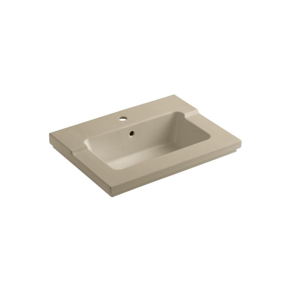 Lavabo intégré monobloc Tresham(TM) avec orifice unique de robinet