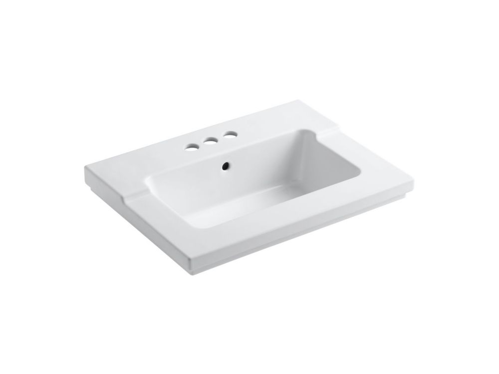 Tresham 1-Piece Surface and Integrated Bathroom Sink with 4-inch Centreset Faucet Installation