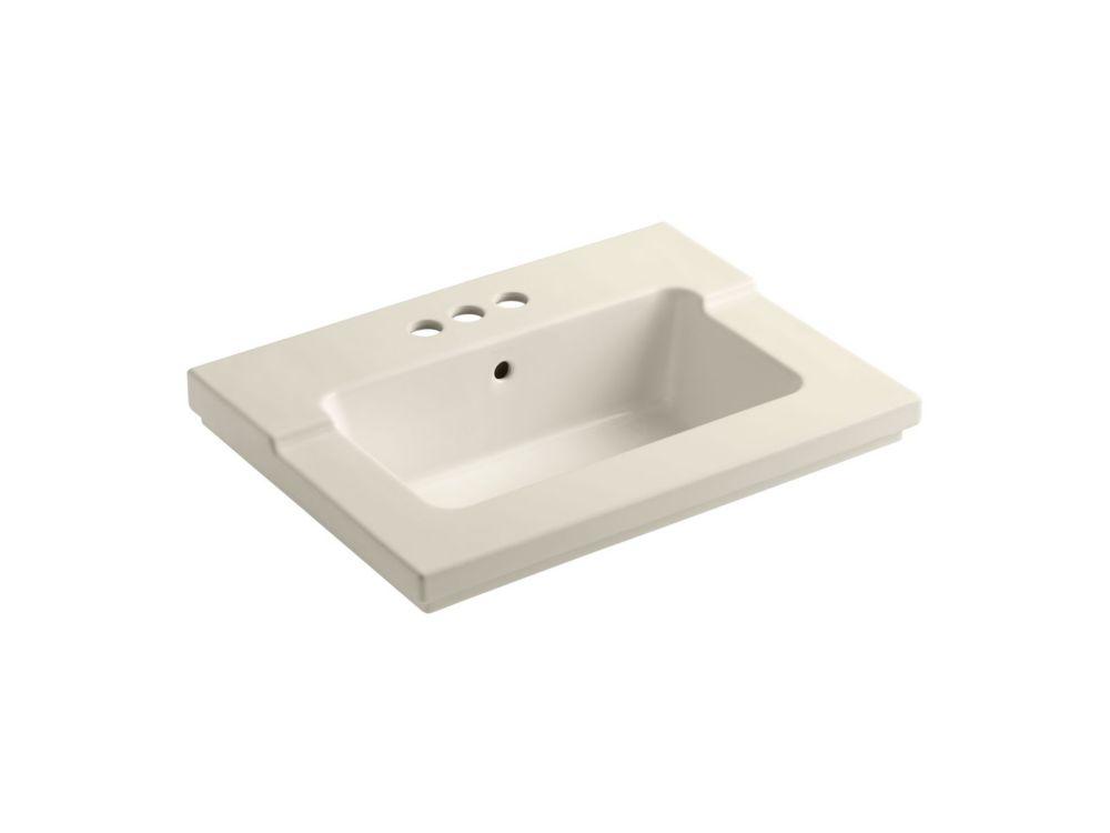 Lavabo intégré monobloc Tresham (TM) avec orifice central de 4 po pour robinet
