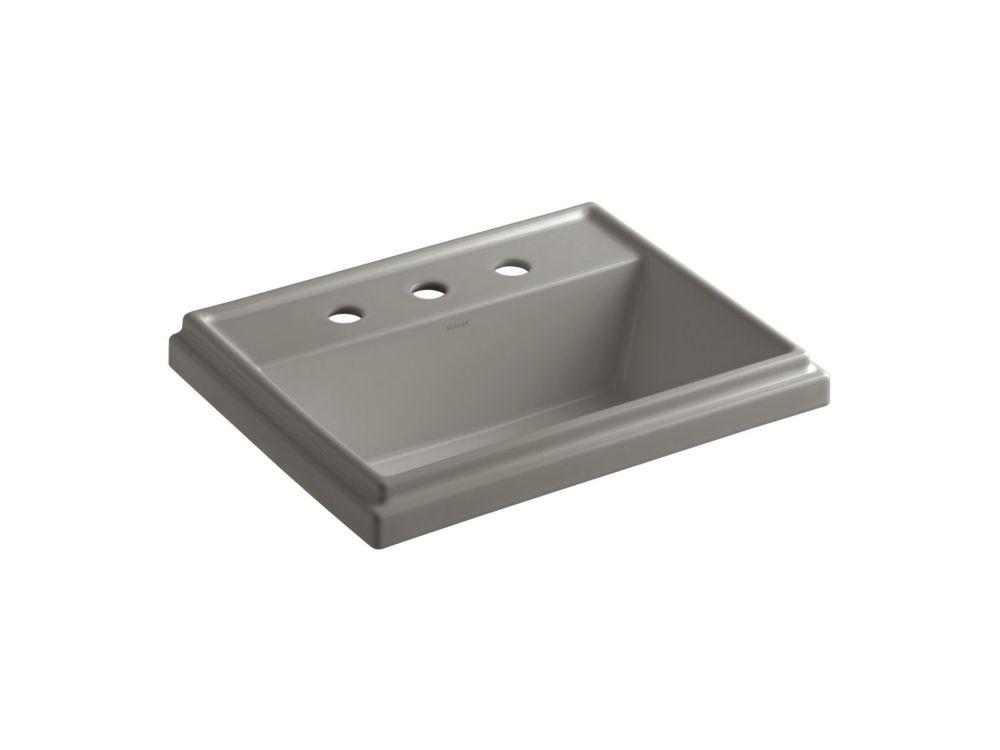 Lavabo rectangulaire à rebord incorporé Tresham(TM) avec orifice d'envergure de 8 po pour robinet