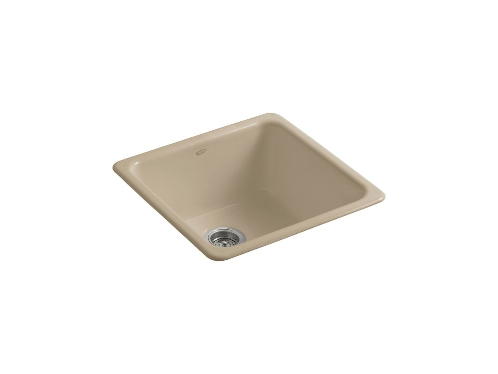 KOHLER Iron/Tones(R) Self-Rimming (20-7/8 Inch X 20-7/8 Inch) Or Undercounter (17-7/8 Inch X 17-7/8 Inch) Kitchen Sink
