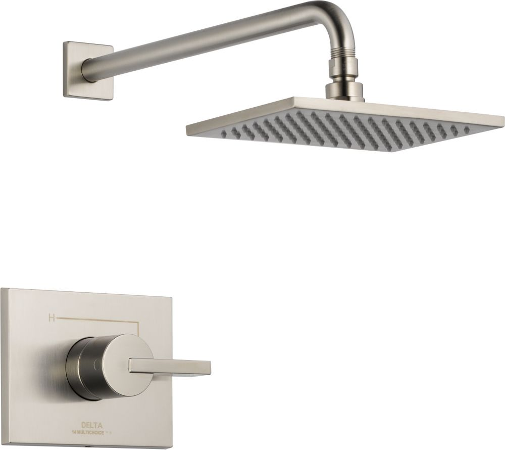 Vero Single-Handle Single-Function Shower Faucet with Raincan Showerhead in Stainless Steel
