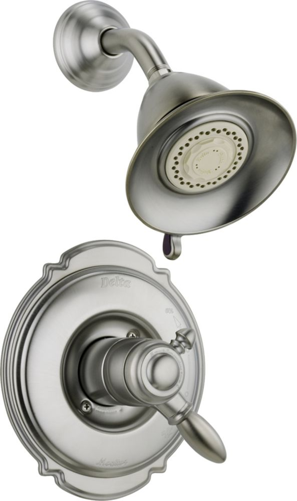 Victorian Single-Handle 3-Function Shower Faucet with Dual Function Cartridge in Stainless Steel