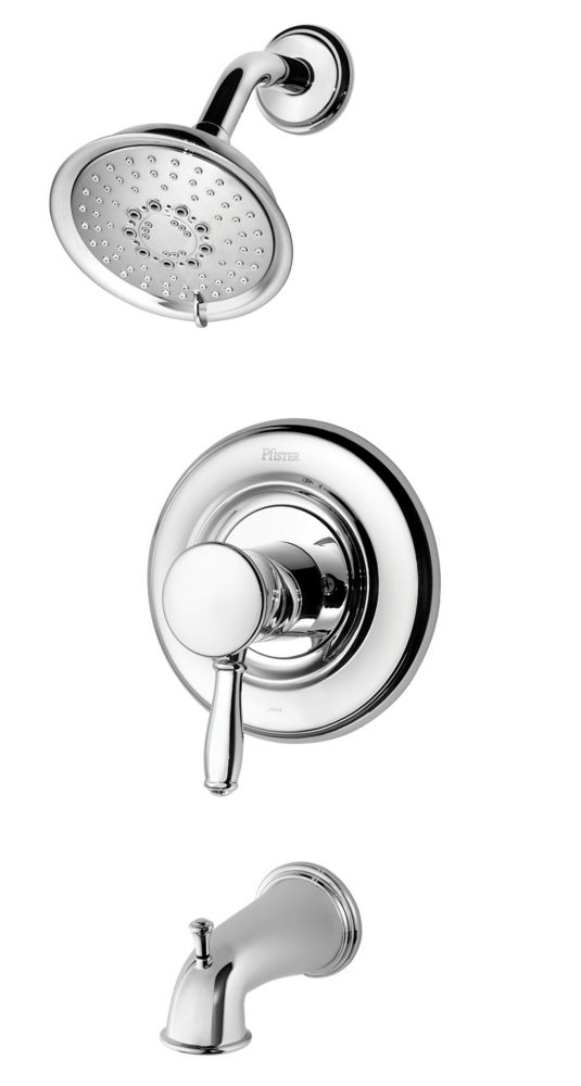 Universal Bath/Shower Faucet in Traditional Chrome