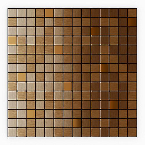 Tuile de mosaÏque pour murs Mircop, 12,13 po x 12,13 po x 0,2 po, metal, cuivre