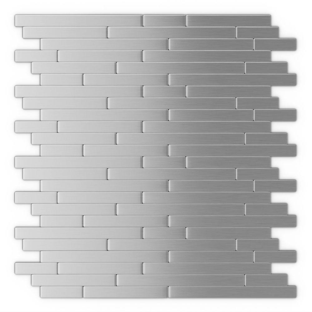 Inoxia Speedtiles Linox Self Adhesive Mosaic Metal Tile The Home