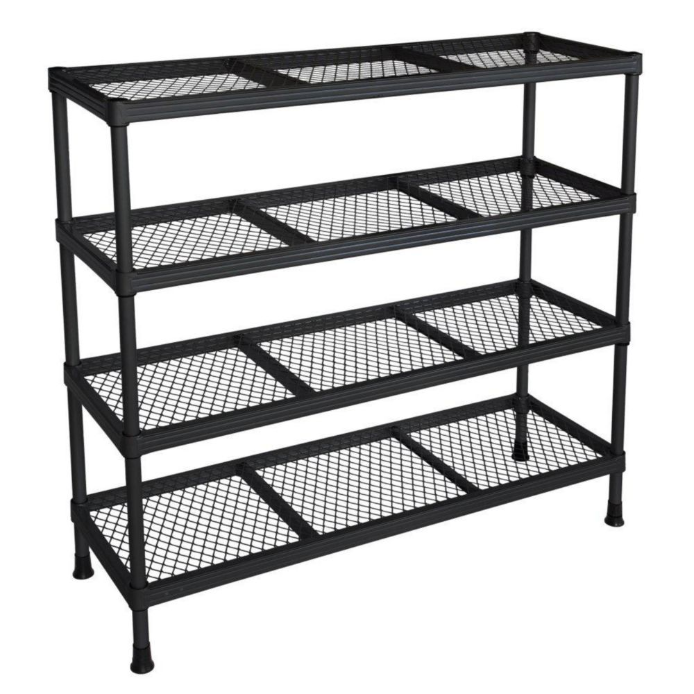 31 in. W x 11 in. D x 31 in. H Black  4 Shelf Combination Wire Shelving Unit