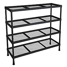 31-inch W x 11-inch D x 31-inch H 4-Shelf Combination Wire Shelving Unit in Black