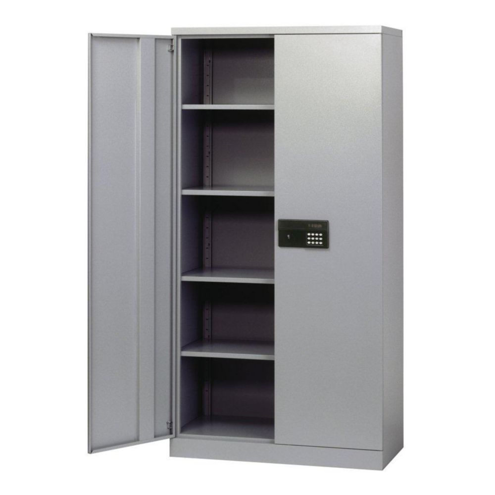 36 in. W x 18 in. D x 72 in. H Quick Assembly Keyless Electronic Coded Steel Cabinet in Dove Gray