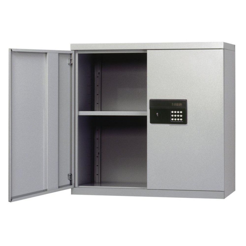 30 in. W x 12 in. D x 30 in. H Keyless Electronic Dove Gray Wall Cabinet
