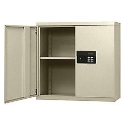 """Sandusky Cabinet de mur électronique en acier sans clés de couleur crème 30"""" l. x 12"""" p. x 30 h."""