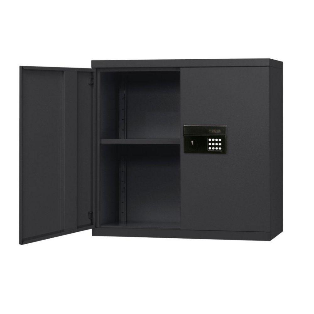30 in. W x 12 in. D x 30 in. H Black Keyless Electronic Wall Cabinet