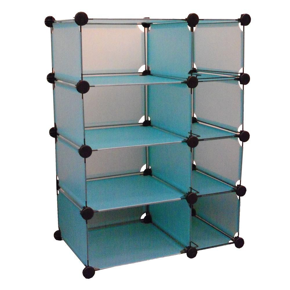 32.5 in. W x 14.75 in. D x 32 in. H Blue Modular Cube Storage System