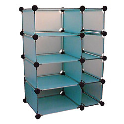 Edsal 32.5 in. W x 14.75 in. D x 32 in. H Blue Modular Cube Storage System