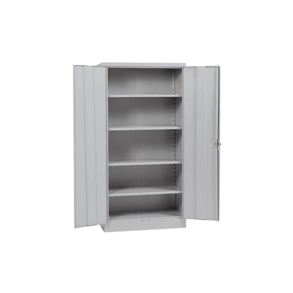 """Cabinet de stockage à assemblage rapide de couleur grise 36"""" l. x 18"""" p. x 72"""" h."""
