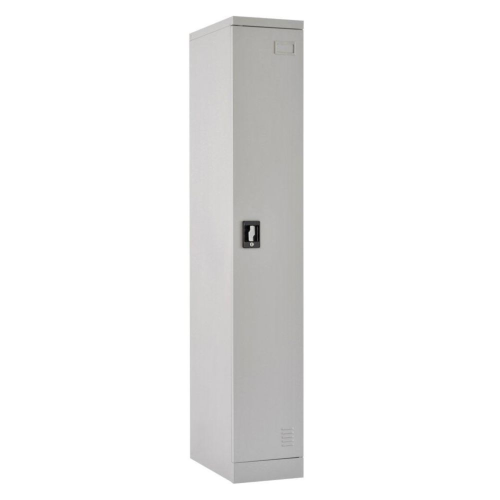 Sandusky Quick Assembly 72 in. H x 12 in. W x 18 in. D Dove Gray Steel Single Tier Locker