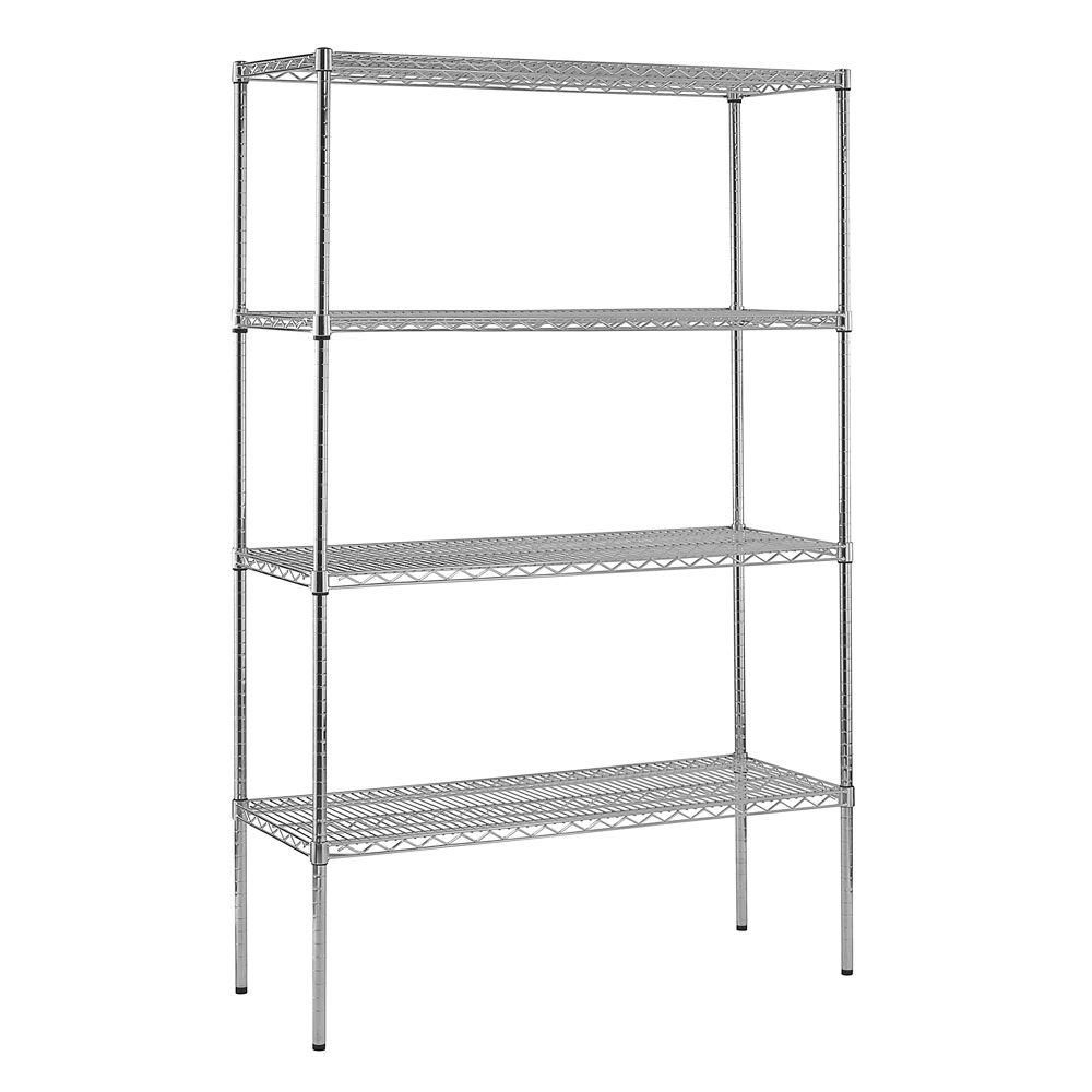 4-Shelf 74 in. H x 48 in. W x 18 in. D Heavy Duty NSF Certified Chrome Wire Shelving