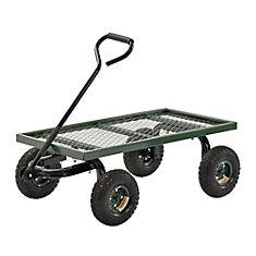 38-inch L x 20-inch W Heavy Duty Flat Nursery Wagon Green