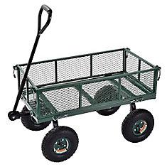 34-inch L x 18-inch W Heavy Duty Steel Crate Wagon in Green