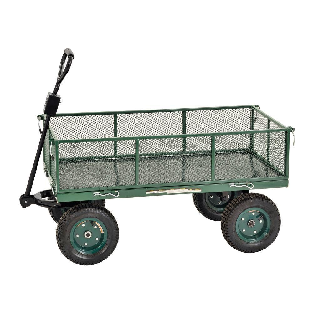 48 in. L x 24 in. W Green Heavy Duty Jumbo Crate Wagon