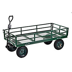 60-inch L x 31-inch W Heavy Duty Steel Large Crate Wagon Green