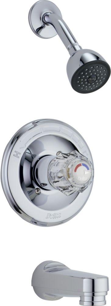 Classique - Garniture pour mitigeur de douche et baignoire, Chrome
