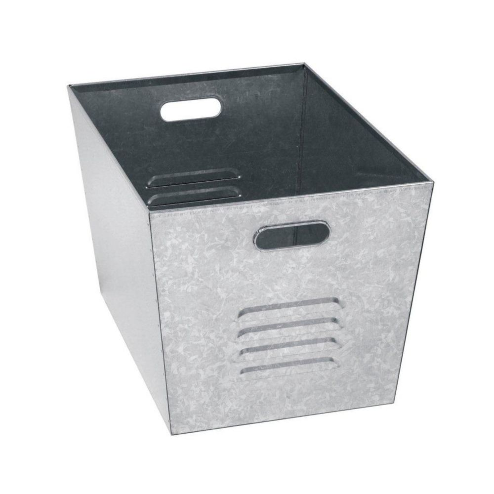 12 in. W x 11 in. D x 17 in. H Steel Galvanized Utility Bins, Set of 6