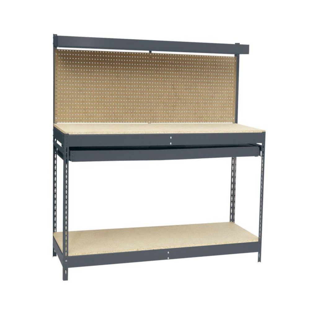 4 Ft. 48 in. W x 24 in. D x 60 in. H Heavy Duty Workbench with Single-Drawer