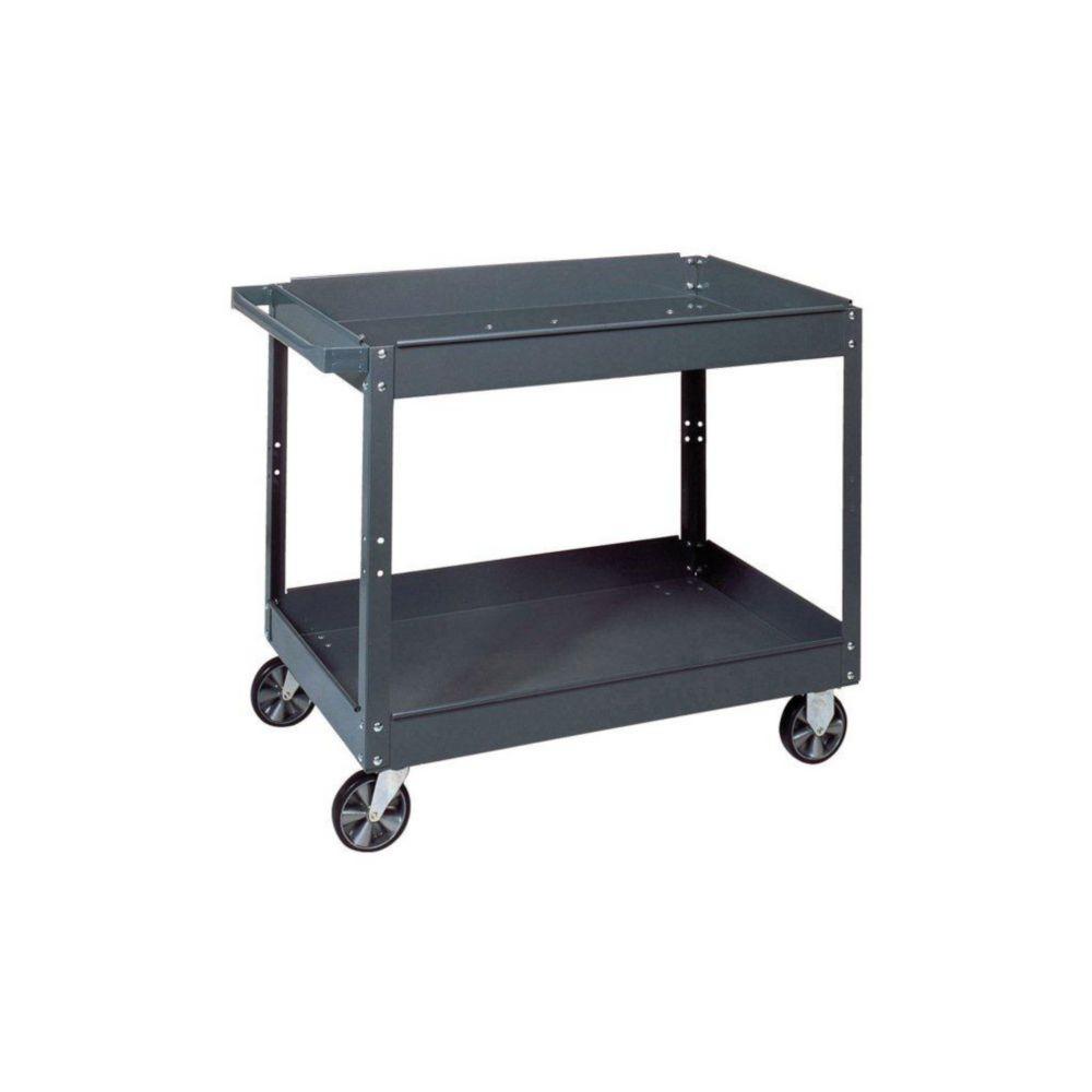 16 in. W x 30 in. L x 3.5 in. H Commercial Steel Service Cart