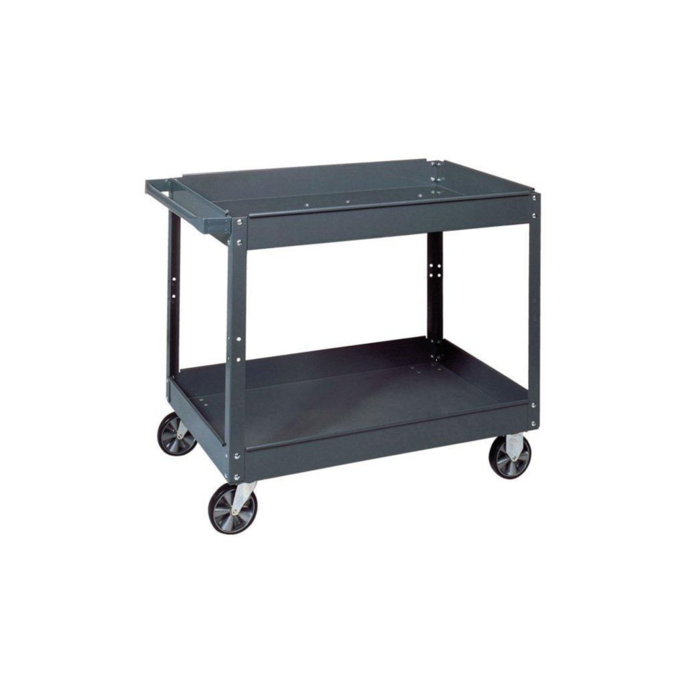 Edsal 16 in. W x 30 in. L x 3.5 in. H Commercial Steel Service Cart