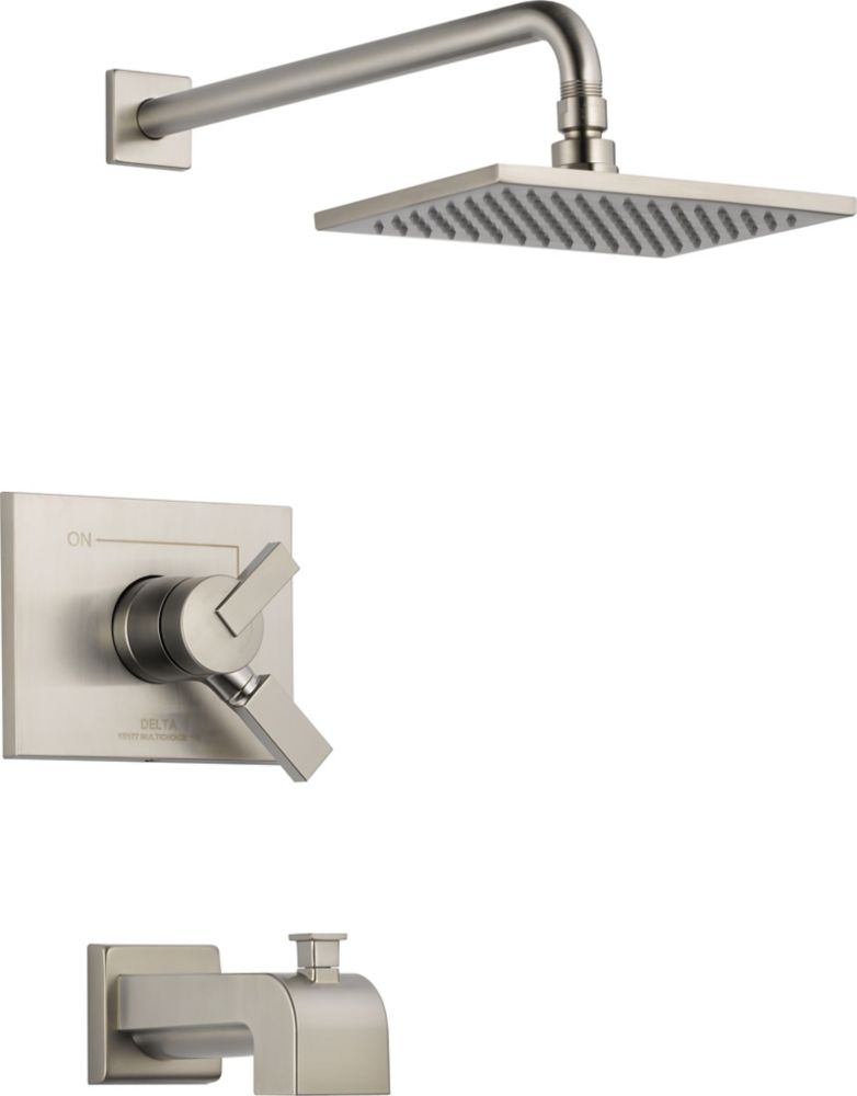 Vero Single-Handle Single-Function Bath/Shower Faucet in Stainless Steel