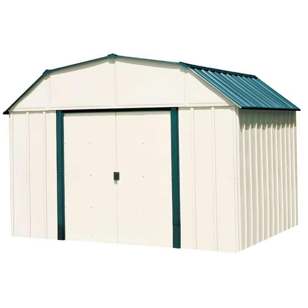 Arrow Vinyl Sheridan Steel Storage Building 10 Ft X 14