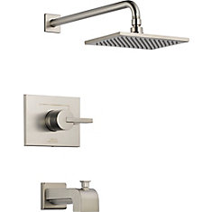 Vero 1-Spray Tub  Shower Faucet in Stainless Steel
