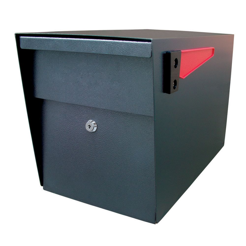 Black Mail Boss Curbside Security Locking Mailbox