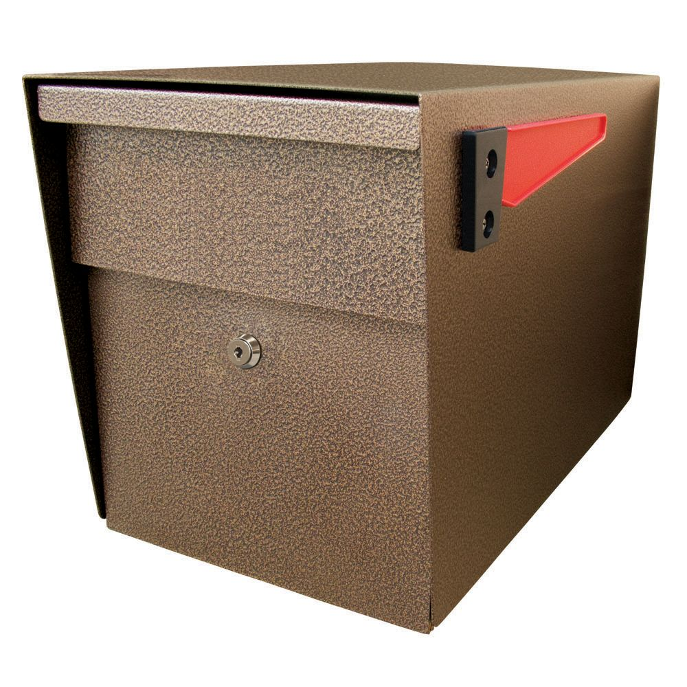 Bronze Mail Boss Curbside Security Locking Mailbox