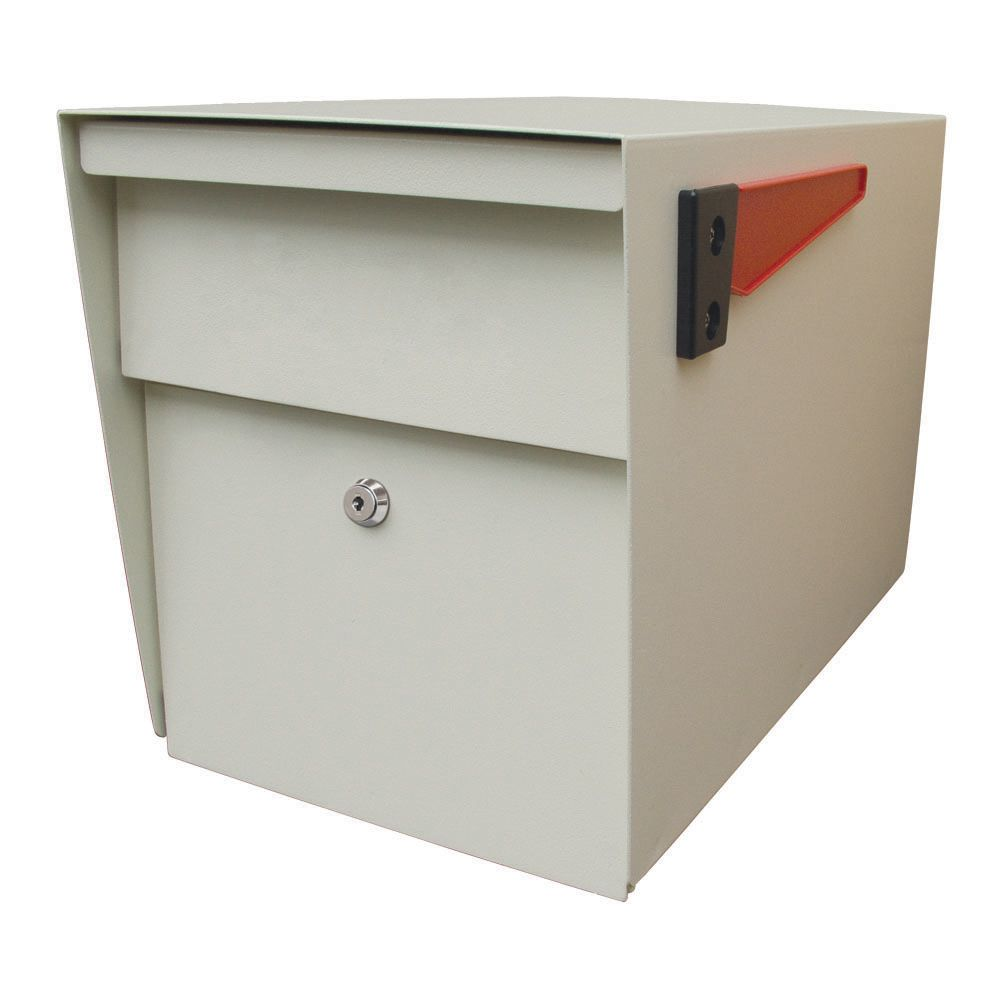 White Mail Boss Cusbside Security Locking Mailbox