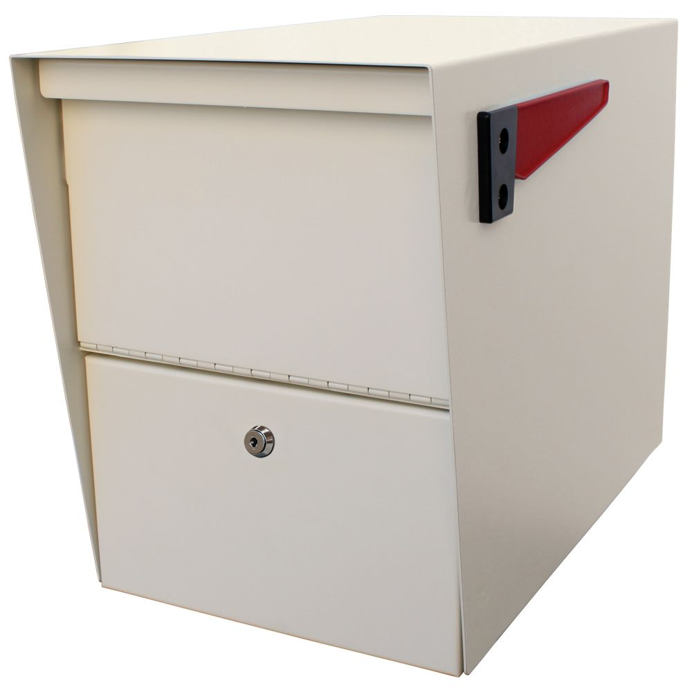 White Package Master Curbside Locking Mailbox