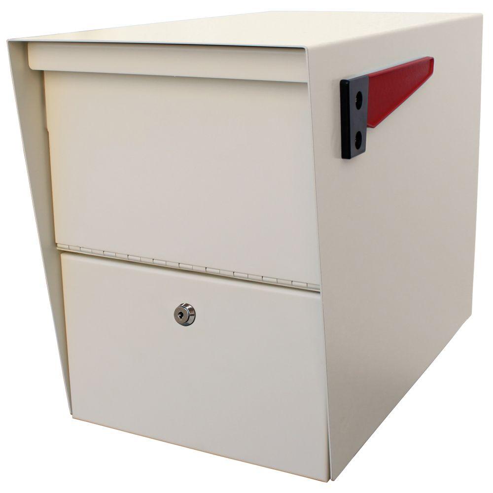 La boîte à colis Package Master de Mail Boss, en noir à blanc