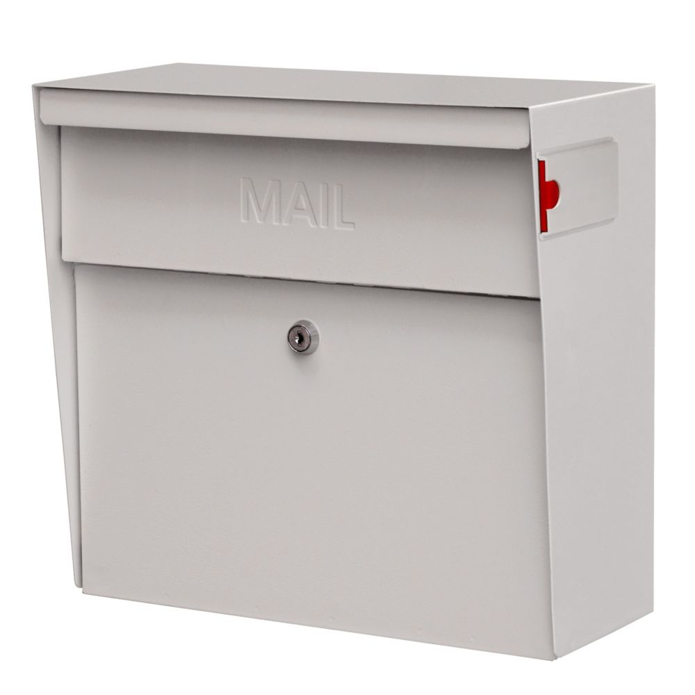 White Metro Wall Mount Locking Mailbox