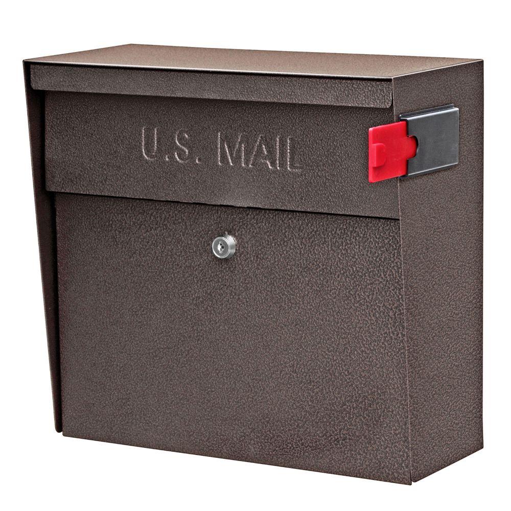Mail Boss Bronze Metro Wall Mount Locking Mailbox The
