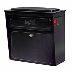 Mail Boss Black Townhouse Wall Mount Locking Mailbox
