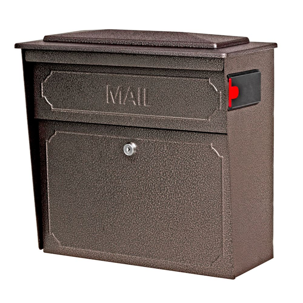 Architectural Mailboxes Bronze Oasis Locking Post Mount