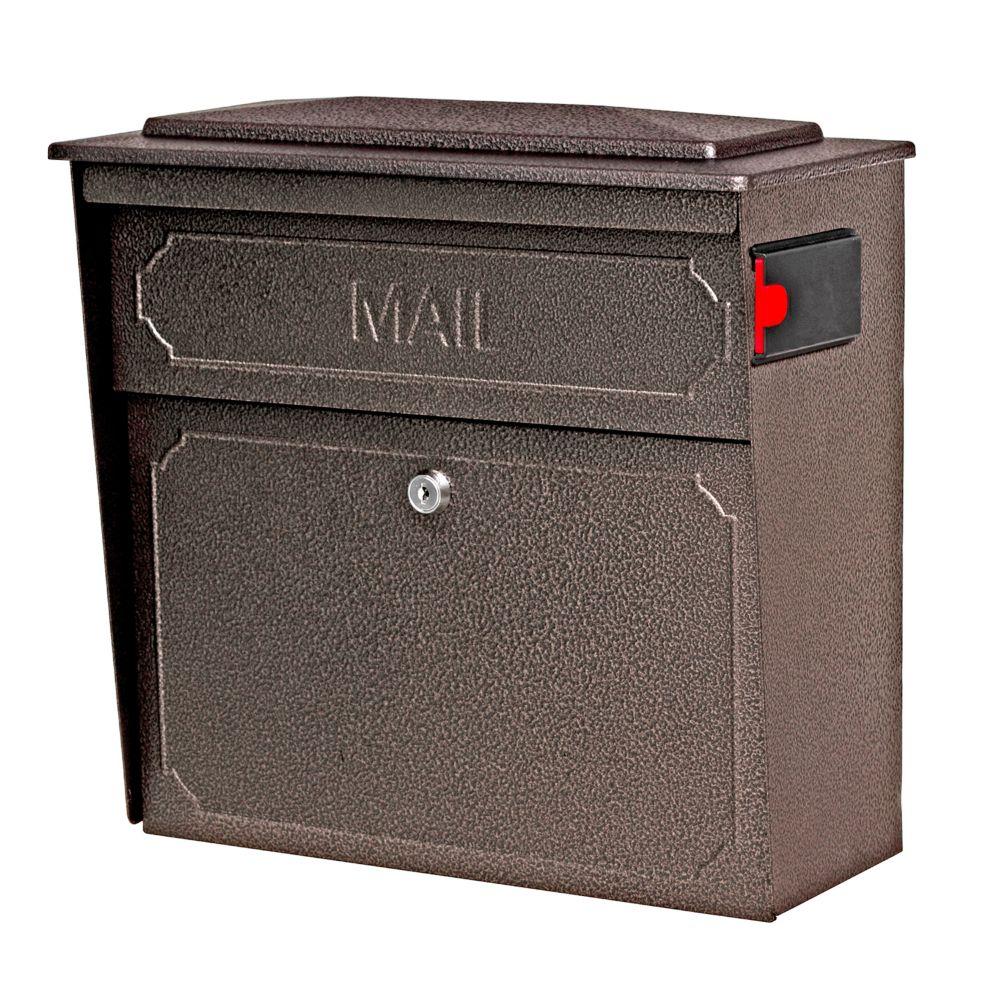 Boîte aux lettres murale Metro de Mail Boss avec serrure, en bronze à fini