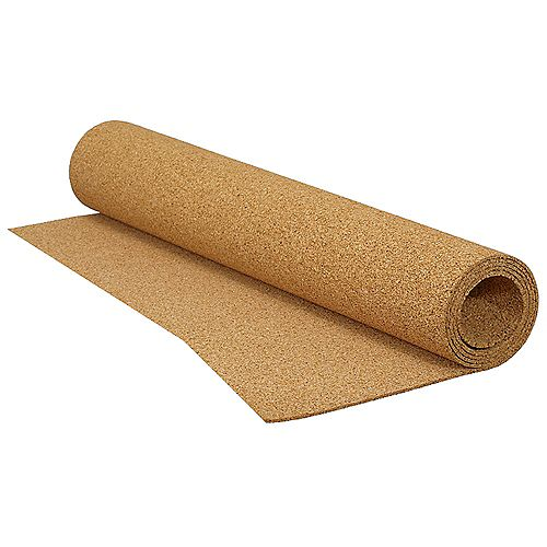 QEP 100 sq. ft., 25 Feet x 4 Feet x 1/4-inch Roll of Cork Underlayment for Tile, Laminate and Floated Wood Floors